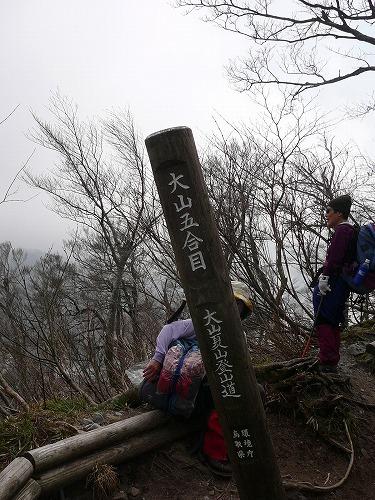 大山の5合目